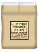 Vallet Stream Fire Department In Sepia Duvet Cover by Rob Hans