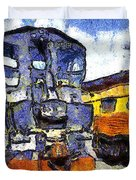 Van Gogh.s Locomotive . 7d11588 Duvet Cover by Wingsdomain Art and Photography
