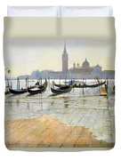 Venice At Dawn Duvet Cover by Timothy Easton