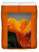 Vibrant Canna Duvet Cover by Susan Herber
