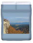 View From Koenigstein Fortress Germany Duvet Cover by Christine Till