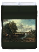 View Of The Stour Near Dedham Duvet Cover by John Constable