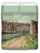 Village In Clohars Duvet Cover by Henry Moret