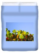 Vineyard Leaves Duvet Cover by Carlos Caetano