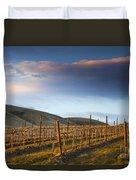 Vineyard Storm Duvet Cover by Mike  Dawson