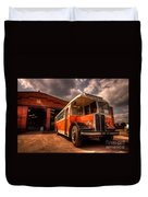 Vintage Bus  Duvet Cover by Rob Hawkins