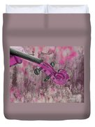 Violinelle - Pink 03b2 Duvet Cover by Variance Collections