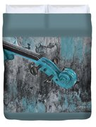 Violinelle - Turquoise 04d2 Duvet Cover by Variance Collections