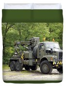 Volvo N10 Truck Crane Of The Belgian Duvet Cover by Luc De Jaeger