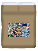Wade Boggs Duvet Cover by Michael Lee