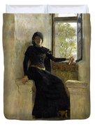 Waiting Duvet Cover by Jean Pierre Laurens