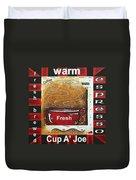 Warm Cup Of Joe Original Painting Madart Duvet Cover by Megan Duncanson