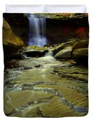 Warm Sky Cool Water Duvet Cover by Frozen in Time Fine Art Photography