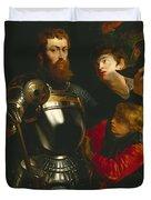 Warrior  Duvet Cover by Peter Paul Rubens