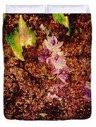 Water Flowers Vietnam Duvet Cover by Skip Nall