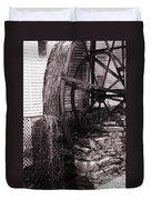 Water Wheel Old Mill Cherokee North Carolina  Duvet Cover by Susanne Van Hulst