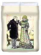 W.c.fields And Jan Duvet Cover by Mel Thompson