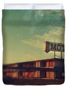 We Met at the Old Motel Duvet Cover by Laurie Search