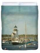 Welcome To Nantucket Duvet Cover by Kim Hojnacki