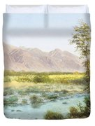 Western Landscape Duvet Cover by Albert Bierstadt