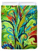 Whirlygig Tree Duvet Cover by Genevieve Esson