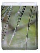 Whispers Of An Autumn Rain Duvet Cover by Maria Urso