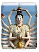 White Buddha Duvet Cover by Adrian Evans