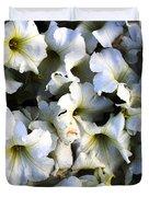 white flowers at dusk Duvet Cover by Sumit Mehndiratta