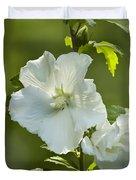 White Rose of Sharon Duvet Cover by Teresa Mucha