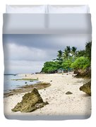 White Sand Beach Moal Boel Philippines Duvet Cover by James BO  Insogna