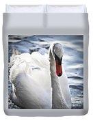 White Swan Duvet Cover by Elena Elisseeva