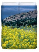 Wild Mustard Duvet Cover by James Steinberg and Photo Researchers