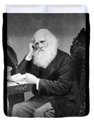 William Cullen Bryant, American Poet Duvet Cover by Photo Researchers