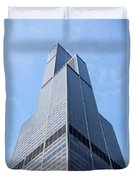 Willis-sears Tower In Chicago Duvet Cover by Paul Velgos