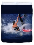 Wind Surfing Duvet Cover by Manolis Tsantakis