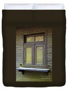 Window And Moss Duvet Cover by Carlos Caetano