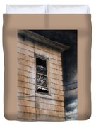 Window In Old House Stormy Sky Duvet Cover by Jill Battaglia