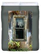 Window In Old Wall Duvet Cover by Jill Battaglia