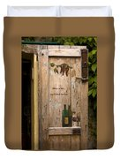 Wine A Bit Door Duvet Cover by Sally Weigand