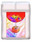 Wine Perpective Duvet Cover by Joan  Minchak