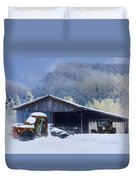Winter Shed Duvet Cover by Ron Jones
