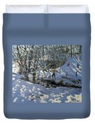 Winter Stream Duvet Cover by Andrew Macara