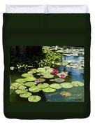 Wishes Among The Water Lilies Duvet Cover by Methune Hively