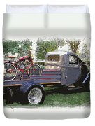 Wizzer Cycle At The Hot Rod Show Duvet Cover by Steve McKinzie