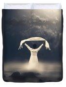 Woman In Water Duvet Cover by Joana Kruse