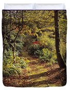 Woodland Path, Mount Stewart, Ards Duvet Cover by The Irish Image Collection