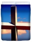 World Largest Cross In Illinois Duvet Cover by Susanne Van Hulst