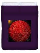 World On Fire Duvet Cover by Kaye Menner