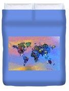 World Peace Tye Dye Duvet Cover by Bill Cannon