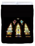 Wrc Stained Glass Window Duvet Cover by Thomas Woolworth